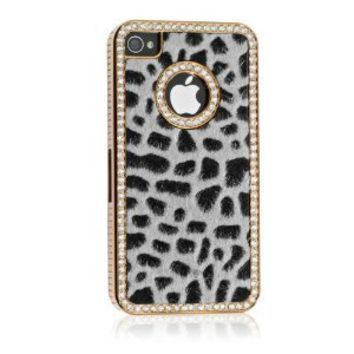 Amazon.com: Luxury Designer Bling Crystal Leopard Cheetah Fur Hard Case Cover for Apple IPhone 4 4S: Cell Phones & Accessories