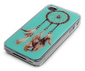 Amazon.com: Clear Snap-On Clear iPhone Cover Case for 4/4S iPhone - DREAMCATCHER LOGO DESIGN - Height:4.5 Inches X Width: 2.5 Inches X Thickness:0.5 Inches.: Jewelry