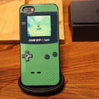 Legend Zelda / Link / Hyrule / Game Boy / Green / Tri / Apple Iphone 5 Case