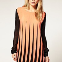 Motel | Motel Contrast Lines Eliza Dress at ASOS