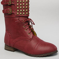 The Titan Boot in Burgundy