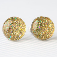 Gold Confetti Sparkle Post Earrings