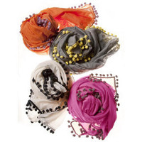 Thomas Paul Pom Pom Scarf at Velocity Art And Design - Your home for modern furniture and accessories in Seattle and the US.