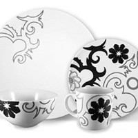 Ink Dish Tribal Place Setting for 1 at Velocity Art And Design - Your home for modern furniture and accessories in Seattle and the US.