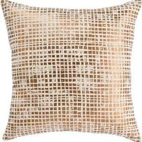 DwellStudio Metallic Squares Bronze Pillow at Velocity Art And Design - Your home for modern furniture and accessories in Seattle and the US.