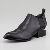 Kori Calfskin Short Ankle Bootie, Black