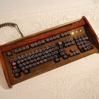 Antique looking IBM Clicky KeyboardVictorian by woodguy32 on Etsy