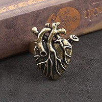 Punk Gecko Style Bare Heart Ring from http://www.looback.com/