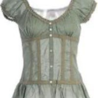 Fang Cotton Corset With Ruffle Top