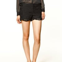 BLONDE SHORTS - Trf - Trousers - Collection - Woman - ZARA United States