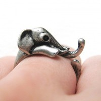 PRE ORDER Miniature Elephant Ring in Silver Sizes 4 to 10 Available - Dec 15th