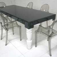 www.roomservicestore.com - Grey Glass Mixed Up Dining Table
