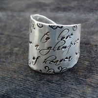 Signature Wide Band Message Ring by donnaodesigns by donnaOdesigns