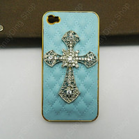 iPhone case Golden  Pearl Cross case  leather case  handmade  loves Fashion case iphone case  cell phone cases and covers