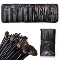 Amazon.com: ALICE Natural Hair Made 32 Count Super Professional Studio Brush Set with Leather Pouch: Beauty