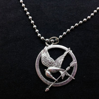 HUNGER GAMES birds necklace, women metal chain short necklace  XL150