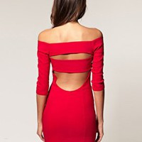 ASOS | ASOS Off Shoulder Dress With Cut Out at ASOS