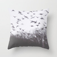 Flight Throw Pillow by Sweet Reveries (Andrea Hurley)  | Society6