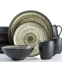 Sango Dinnerware, Soho Black 16 Piece Set - Casual Dinnerware - Dining & Entertaining - Macy's
