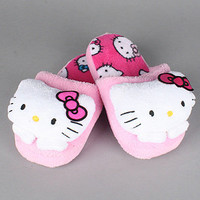 The Hello Kitty Plush SlipOn Slipper in Pink : Hello Kitty Intimates : Karmaloop.com - Global Concrete Culture