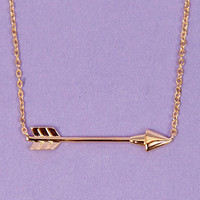 Straight Arrow Necklace $11