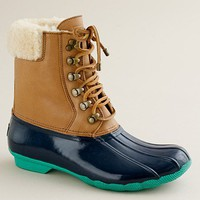 Women&#x27;s Women_Feature_Assortment - cold weather comforts - Sperry Top-Sider?- short Shearwater boots - J.Crew