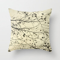 boughs neutral Throw Pillow by Iris Lehnhardt | Society6