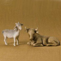 Willow Tree-: The Nativity: Ox and Goat