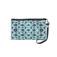 Vintage Floral in Aqua and Dark Teal Wristlets from Zazzle.com