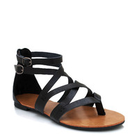 strappy-leather-sandals BLACK BLUE CHESTNUT - GoJane.com