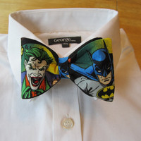 Bow tie Batman and Joker by sewfairycute on Etsy
