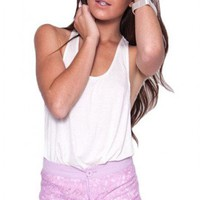 Mockingbird shorts in lilac  | Show Pony Fashion online shopping