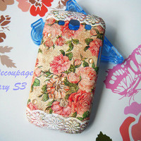 Vintage Rose with Lace - Samsung Galaxy S3 i9300case , Case galaxy S3 , Galaxy S3 Cover , Floral
