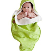 Supermarket - Organic Newborn Noonie? - Green Swirls from Lalas Pequenos