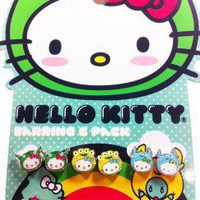 Hello Kitty Monsters Earrings - 6 pairs!