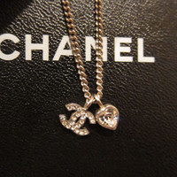 Elegant Chanel Pendant + Necklace