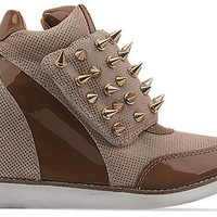 Jeffrey Campbell Teramo Spike in Tan Beige Gold at Solestruck.com