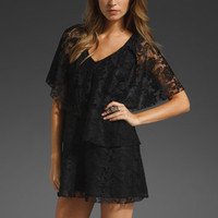 TORN BY RONNY KOBO Stella Layered Lace Dress in Black at Revolve Clothing