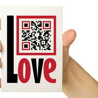 Customizable Geek QR Code Valentine Card - Personalize with your own message - Red and Black 5x7