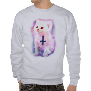 Inverted Cross Kitten Sweatshirt from Zazzle.com