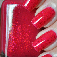 u jelly Red Glitter Nail Polish 15ml (.5oz)