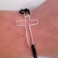 Silver Cross Bracelet from My Friends Closet