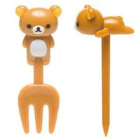 Rilakkuma 3D Food Picks and Forks Set