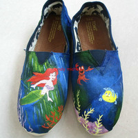 custom toms  the Little Mermaid TOMS shoes Hand-painted on toms shoes