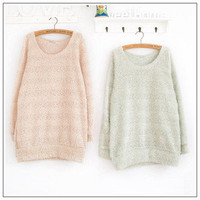 Stripe Fur Sweater Top❤Korean Japan/Korea casual japanese blouse party XS S M