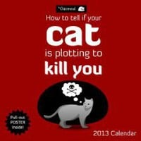 Cool Stuff - How To Tell If Your Cat Is Plotting To Kill You 2013 Wall Calendar