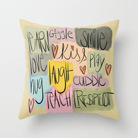 for happy homes  Throw Pillow by LindsayMichelle | Society6