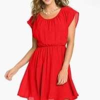 Lush 'Stella' Chiffon Dress (Juniors) | Nordstrom