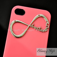 Directioner Infinity Iphone Case, One Direction Iphone 4 Case, Iphone 4S case, Pink 1D Iphone 4 4S Case