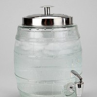 Glass Barrel Drink Dispenser